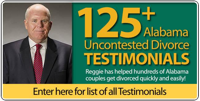 Testimonials for Reggie Smith Alabama Uncontested Divorce Lawyer